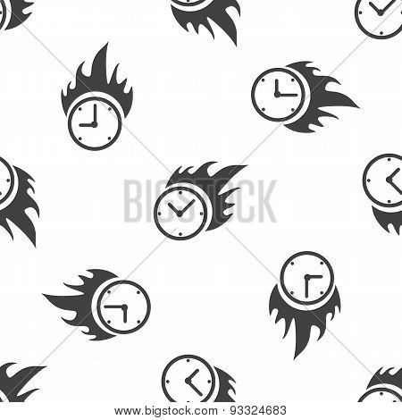 Burning clock pattern