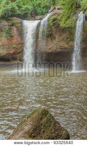 Haew Suwat Waterfall - World Of Waterfalls.
