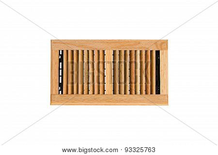 Solid Oak Wall And Ceiling Register