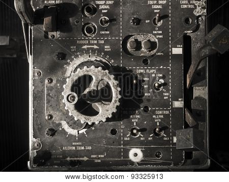 Old Aircraft Instruments Panel