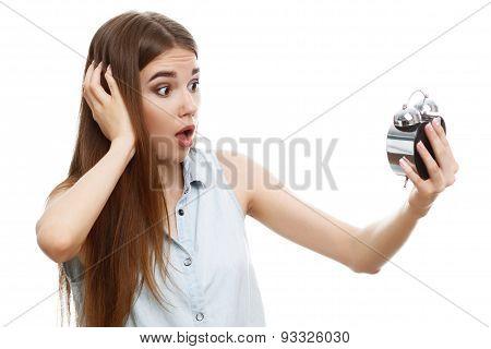 Portrait of a beautiful emotional girl posing