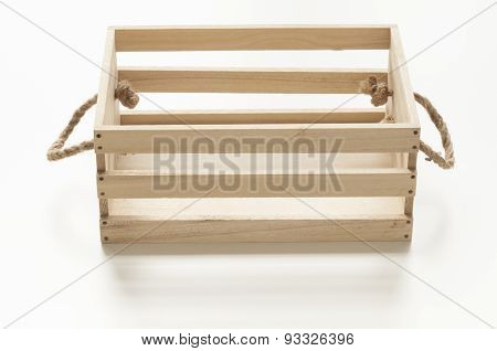 Wood Box With Rope Handles