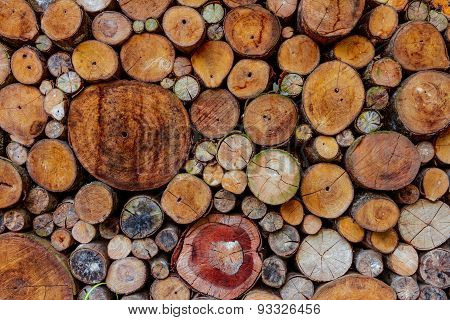 Background design with wood.