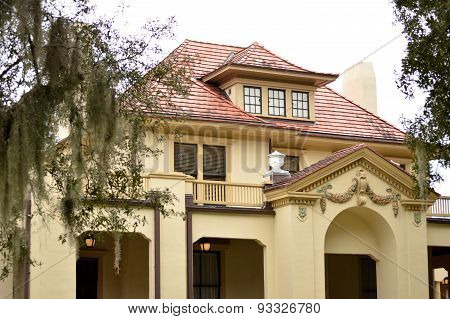 Spanish Colonial Building In Florida
