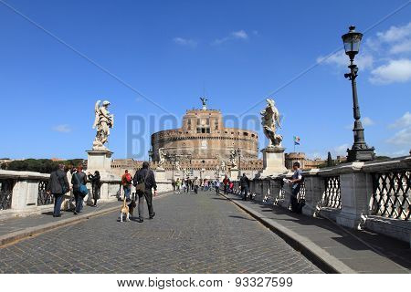 Castle Saint Angelo and bridge, Rome