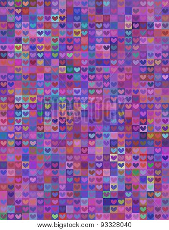 Seamless Heart Shape Image In Colorful Spectrum