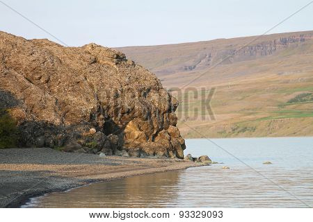 Sleeping Troll Rock Formation In Iceland