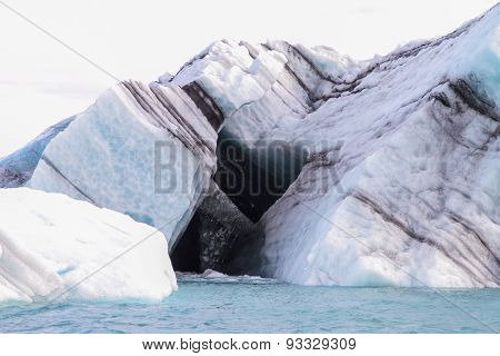 A Black heart in an iceberg
