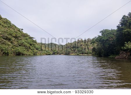 Tranquil Water Way In Caramoan Jungle