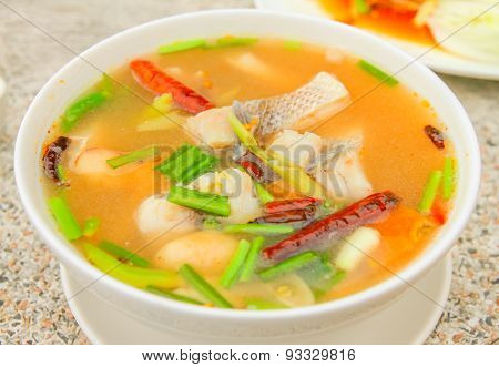 Thai food (Tomyam).