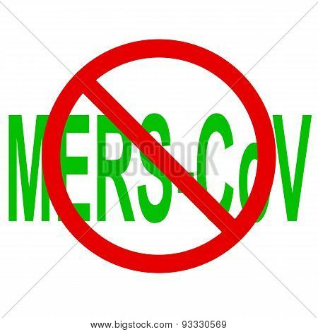 Stop Mers Corona Virus Sign.