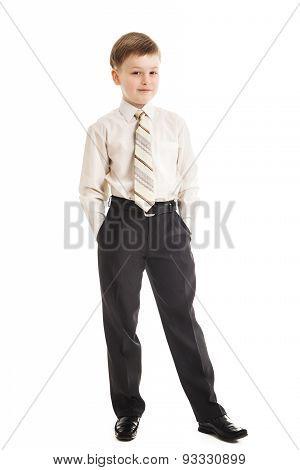 Schoolboy Isolated