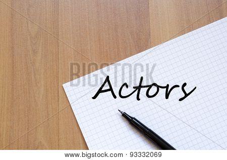 Actors Concept