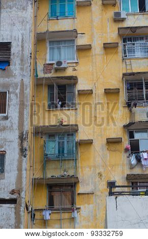 Old Apartment Buildings In Ho Chi Minh City