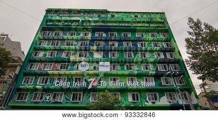 Facade Of A Dormitory In Saigon