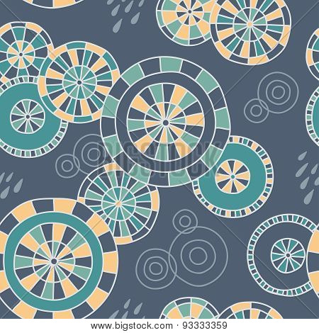 Rain in Kyoto - seamless pattern