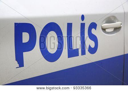 Police Car in Istanbul