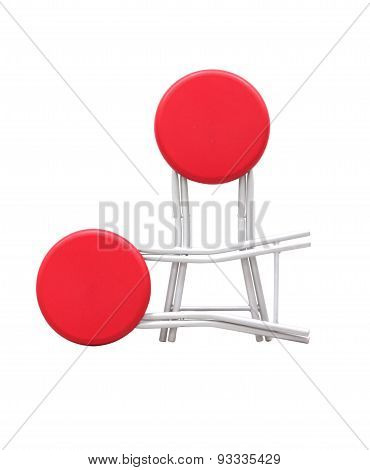 Chair On White Isolate Background.