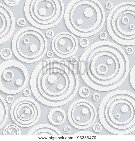 Seamless Circular Pattern With Shadow White Color