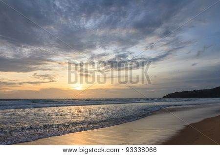 Sunset And The Beach.