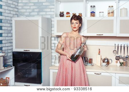 Woman With A Bottle Of Soda.