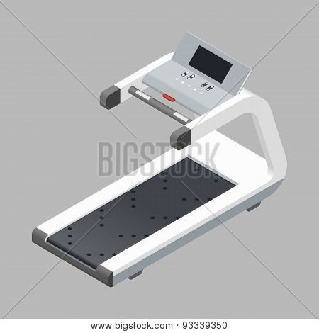 Treadmill Isometric Detailed Icon