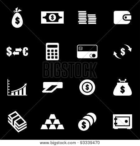 Vector white money icon set