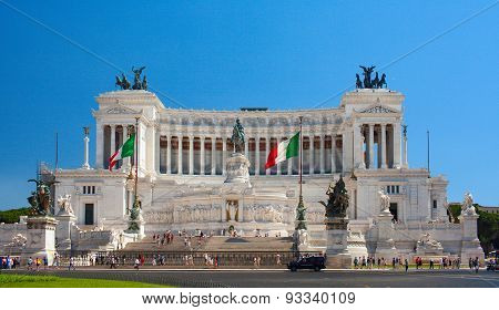 The Altare della Patria (Altar of the Fatherland). Rome