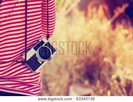 hipster girl photographer