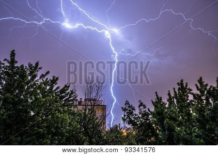 Thunderstorm In Warsaw