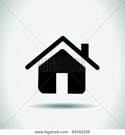 retro style home icon