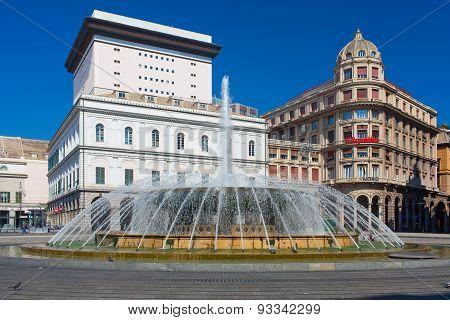 De Ferrari square in Genoa. Italy