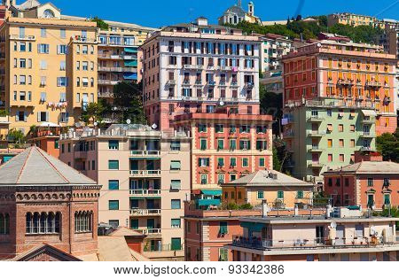 Lagaccio quarter in the old part of Genoa city. Italy
