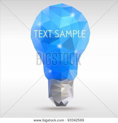 Polygon Idea Light Bulb