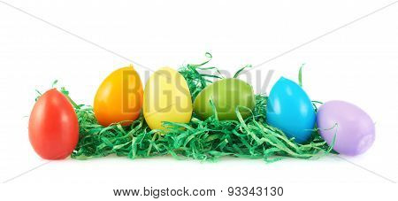 Colorful egg candles
