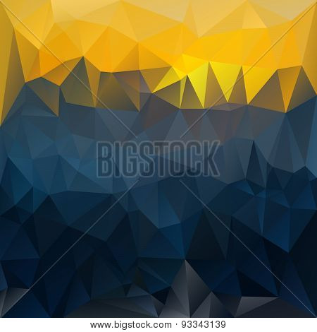 Vector Polygonal Background Triangular Design In Sundown