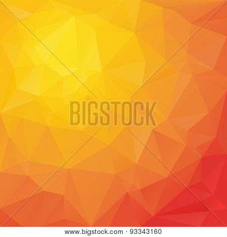 Vector Polygonal Background Triangular Design In Reflection C