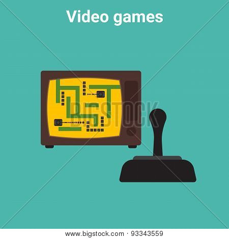 Retro video game