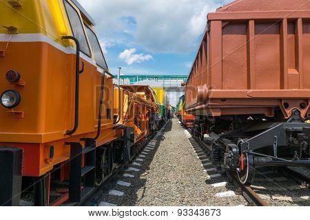 Cargo Wagons On Rails