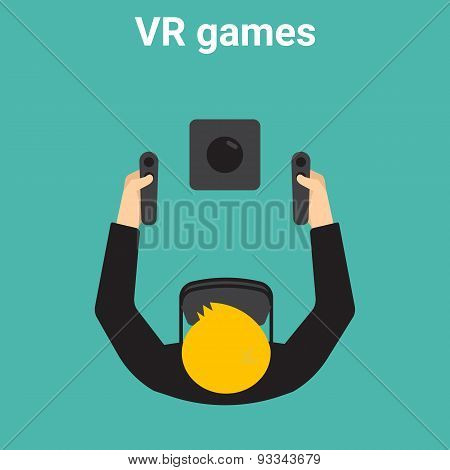 Home gaming in virtual reality