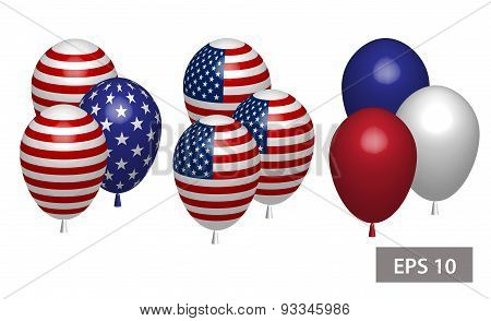4 July Independence Day Balloons