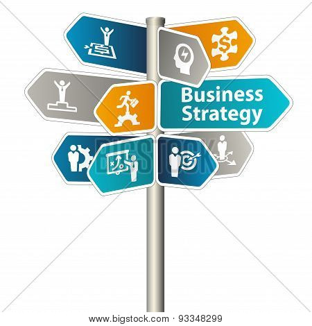 Business Strategy Sign