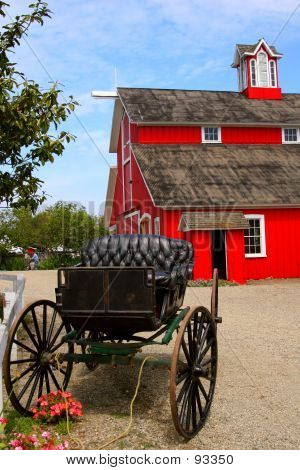 Red Barn And Buggy