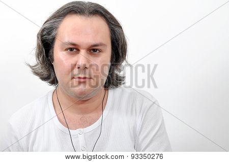 Young man facial expression