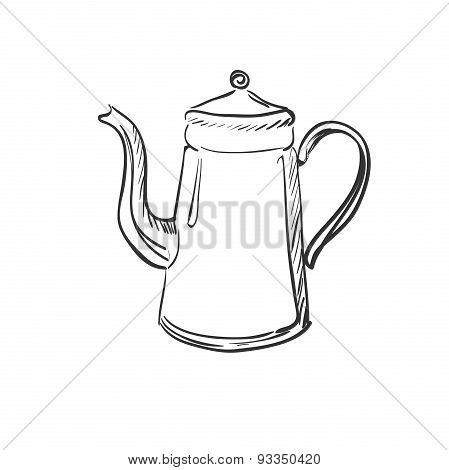 doodle coffee pot