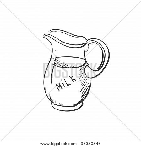 doodle jug of milk