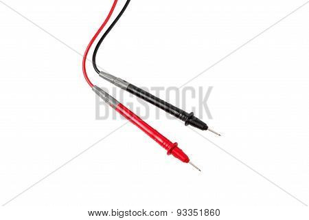Red and black isolated multimeters probes