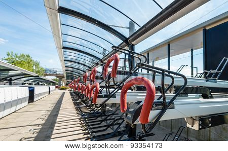 Empty Bicycle Parking