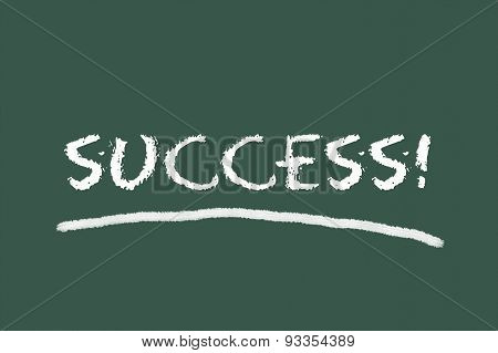 Success Script On Green Blackboard