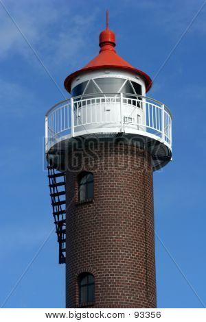 Lighthouse Against Blue Sky.